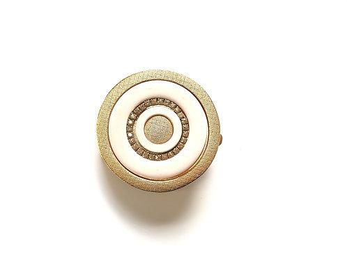Vanilla Gold Round Buckle