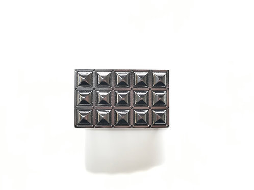 Graphite Pyramid Buckle