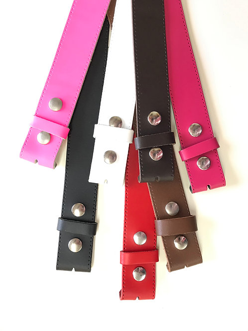 Detachable Buckle Perforated Edges Belts