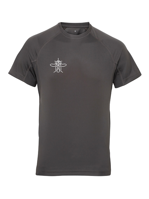 Men's Panelled Training T-shirt Charcoal