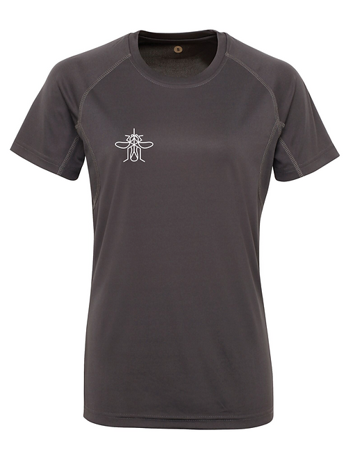 Mosquito Women's Panelled Training T-shirt Charcoal