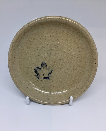 Leaf imprint saucer