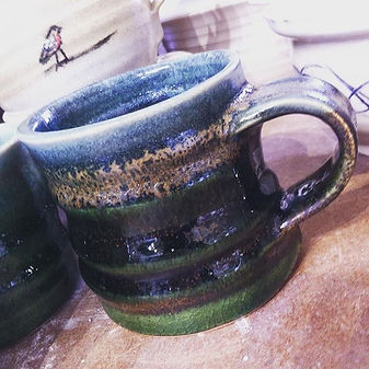 Another twist from my new green glaze! #