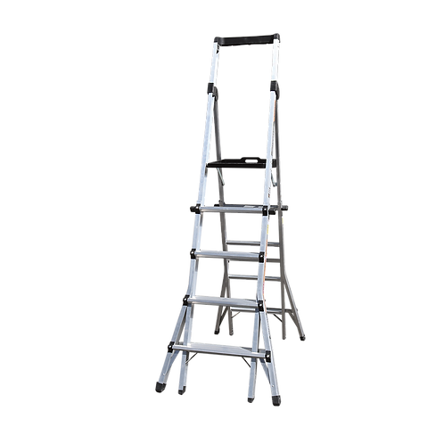 5-8 Step Adjustable Platform Ladder