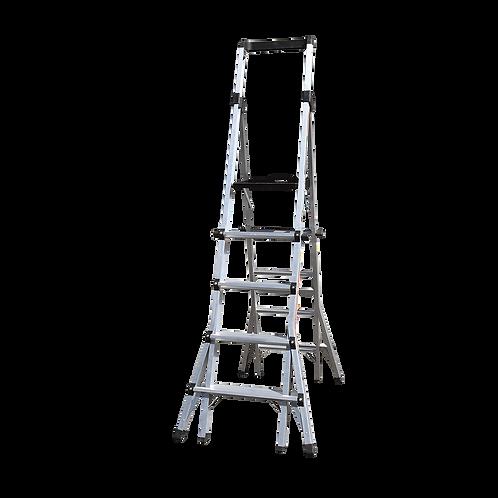 5-8 Step Adjustable Platform Ladder