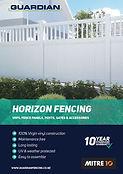 Guardian Horizon Fencing Brochure Cover.