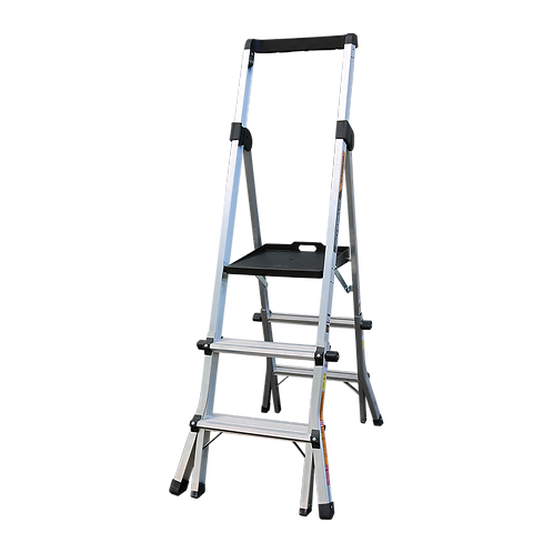 3-4 Step Adjustable Platform Ladder
