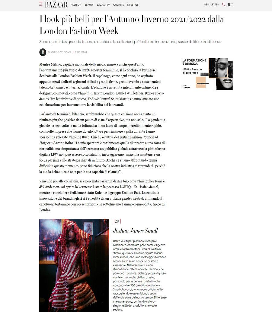 Harper's Bazaar Joshua James Small