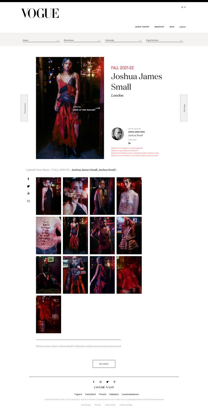 Joshua James Small FALL 2021-22 - Vogue