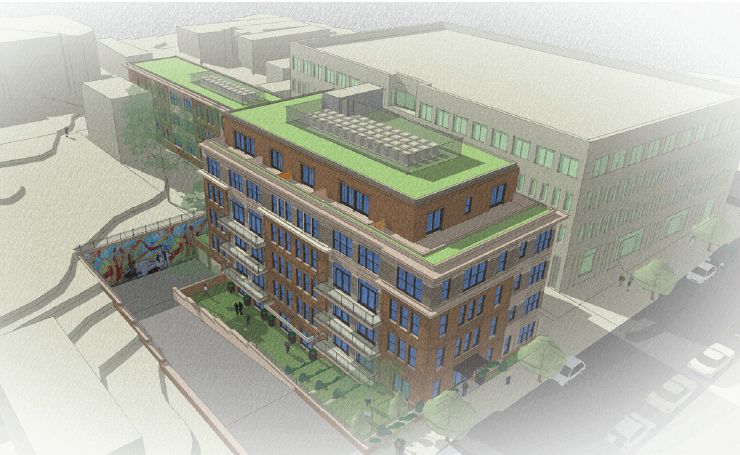 2100 Martin Luther King Jr. Ave., SE: Initial rendering before HAPS comments, 2016