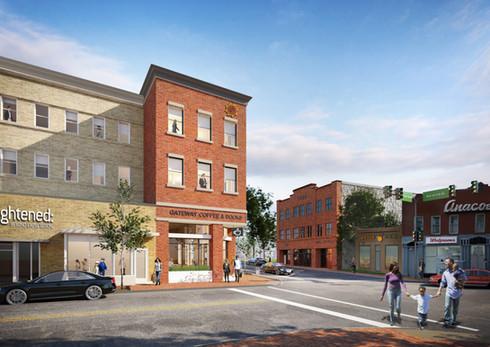 Good Hope Road SE corner Martin Luther King, Jr. Ave. SE: Rendering for the MLK Gateway Project, 2020