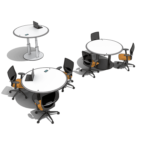 Circular Adjustable Meeting Table