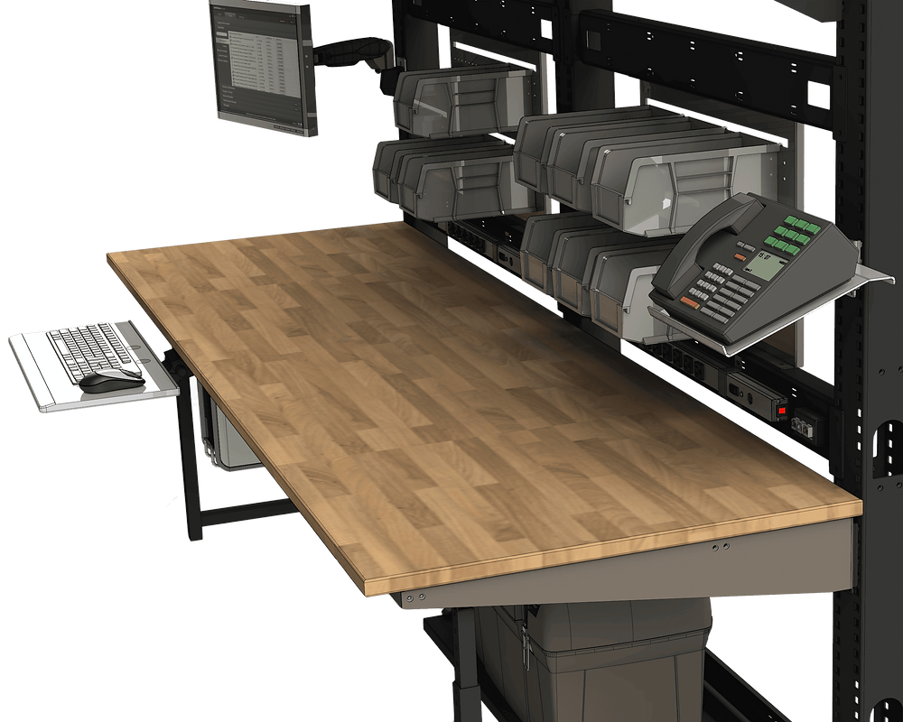 multiple accessories for workbench