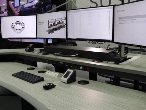 Standing Desk Controller & Keypads - Sustema Control Room Consoles