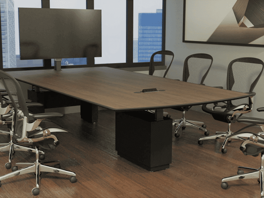 Modern Technology Conference Tables: Data Ports, Power, Height-Adjustable, Multimedia