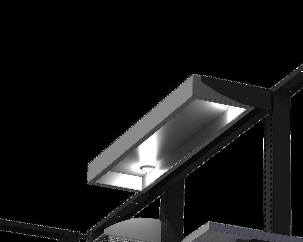 workbench lighting under shelf