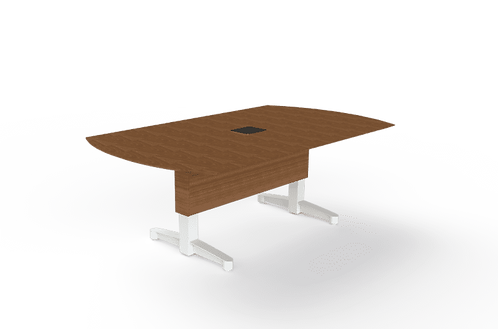 Boatshaped Fixed Meeting Table