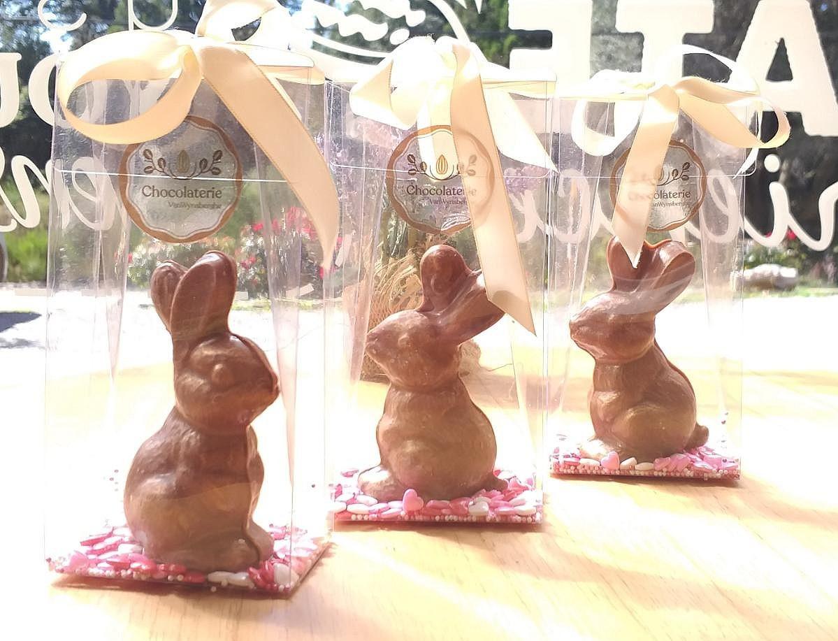 Conejos de chocolate con leche