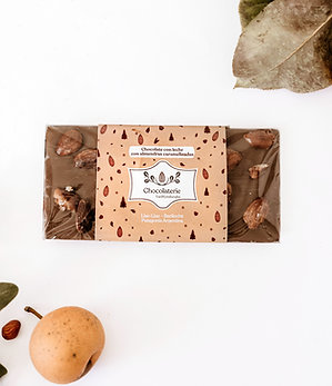 Tabletas de chocolate belga con frutos