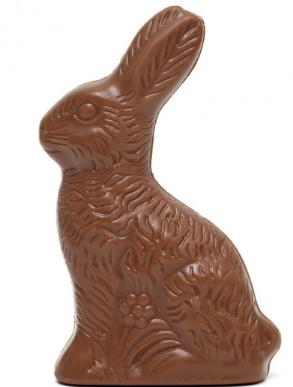 Conejos de chocolate leche y chocolate blanco