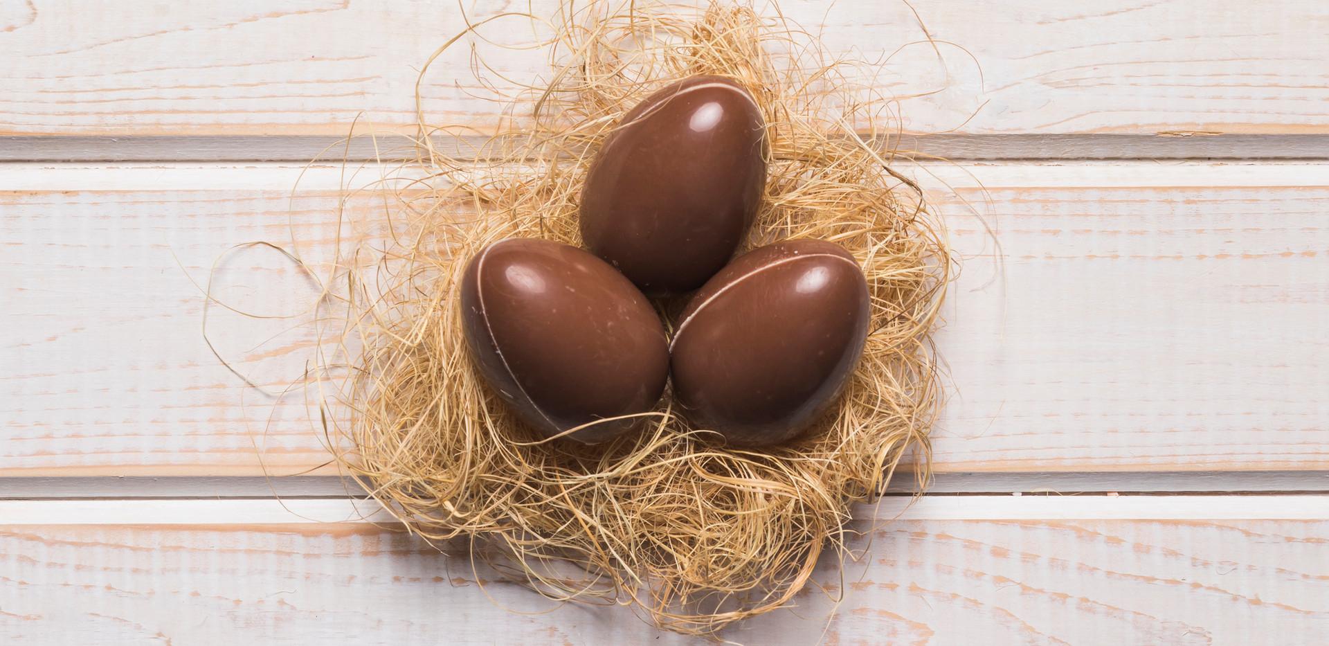 huevos chocolate con leche
