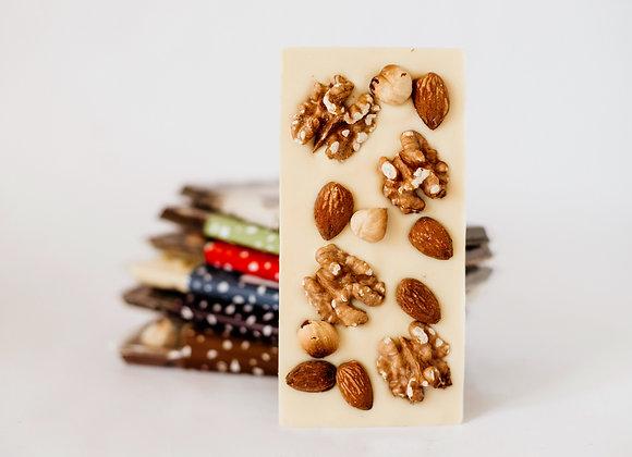 Tabletas chocolate con frutos secos