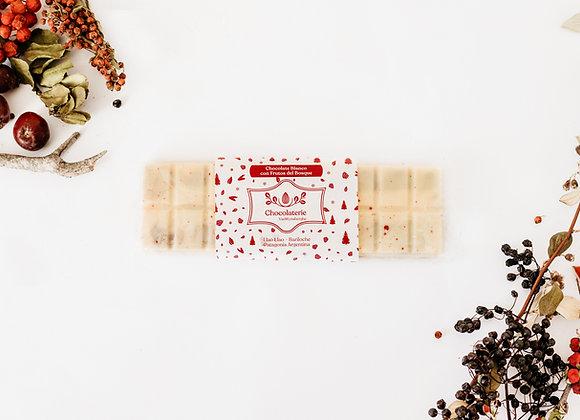 Tableta chocolate blanco rellena frutos rojos