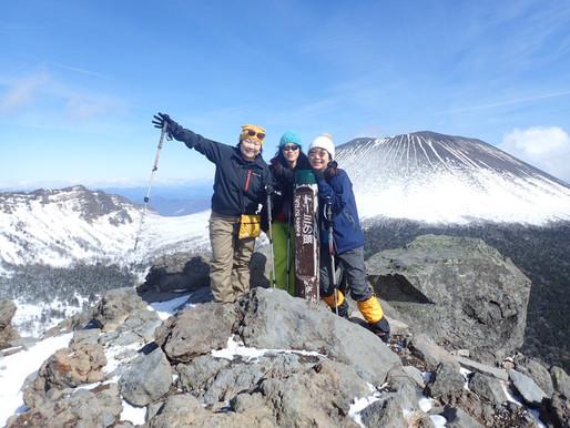 晴天の黒斑山で絶景&新雪スノーシュー