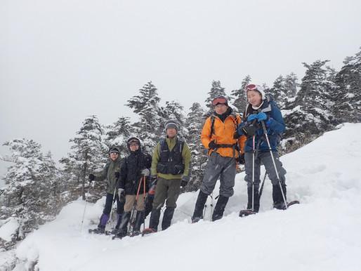 浅間山の外輪山・黒斑山スノーシュートレッキング