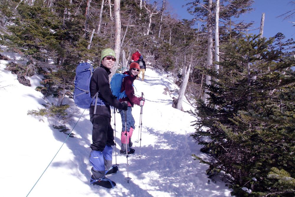 北横岳雪山登山入門ツアー