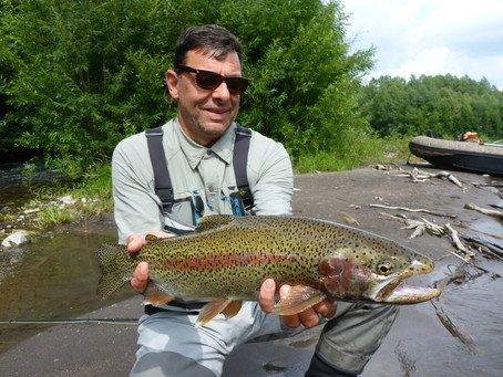Rainbow trout fishing in Kamchatka! Heaven!
