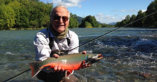 Icha river, salmon fishing tour, fly fishing
