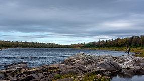 Strelna river, fly fishing, salmon fishing tour
