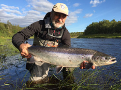 Kola peninsula salmon fishing