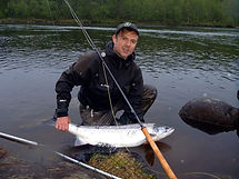 Kola river, fly fishing, salmon fishing tour
