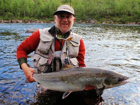 Kola river salmon fishing, some details