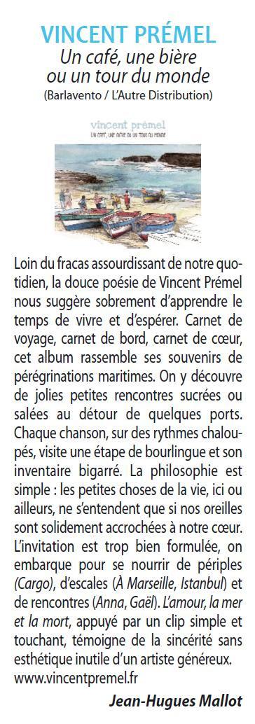 Chronique de l'album dans le magazine FrancoFans (août 2019)