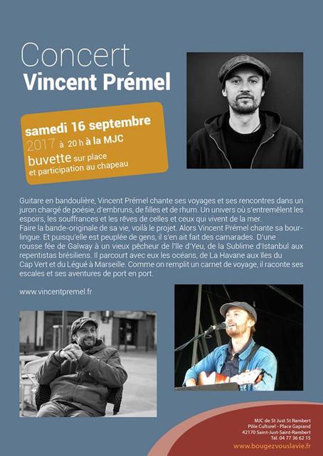 En concert à Saint-Just-Saint-Rambert dans la Loire (42) le 16 septembre 2017