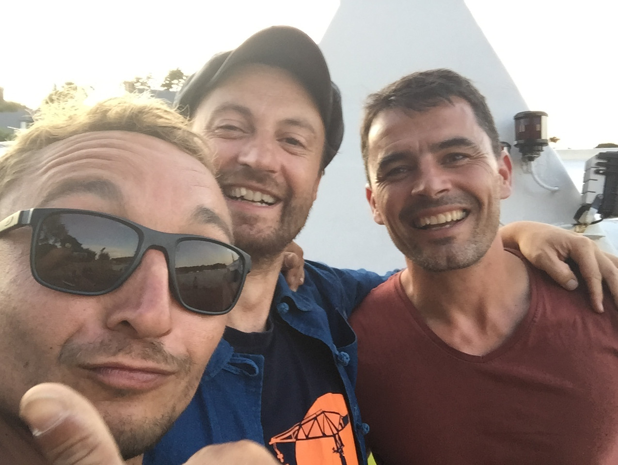 Avec David et Xavier