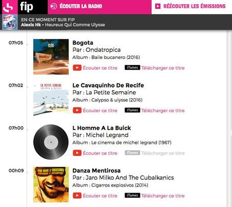 """Ma chanson """"Le cavaquinho de Recife"""" diffusée sur FIP !"""