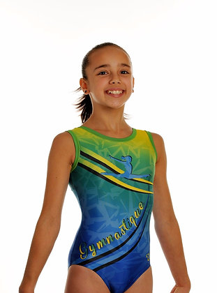 A129 Bleu, vert, jaune gymnaste