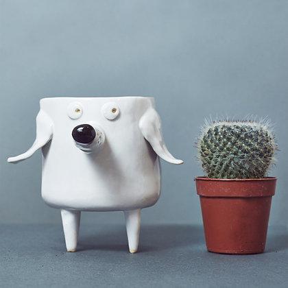Ceramic Dog Planter.#03
