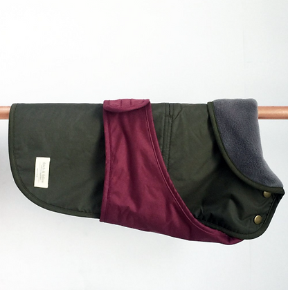 Rain Jacket - Green/Maroon