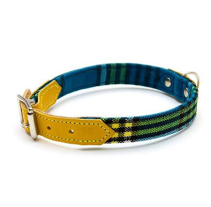 Botanical Shuka Blue Dog Collar