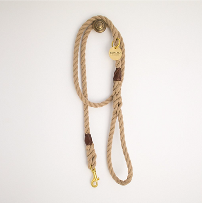 Sand Brown Rope Dog Leash
