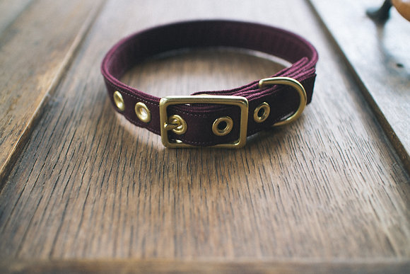Plum Twill + Brass Collar