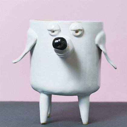Ceramic Dog Planter.#01