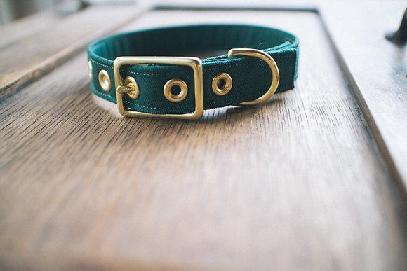 Vintage Green Twill + Brass Collar