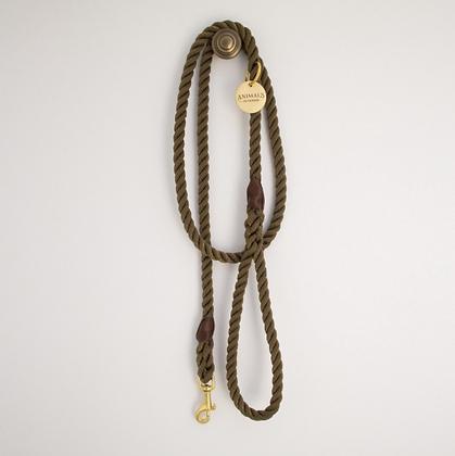 Olive + Brass Rope Dog Leash