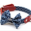 Thumbnail: Shweshswe Navy Circles Dog Bow Tie